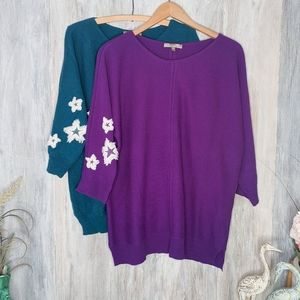 Neiman Marcus Cashmere with White Stars Sweaters